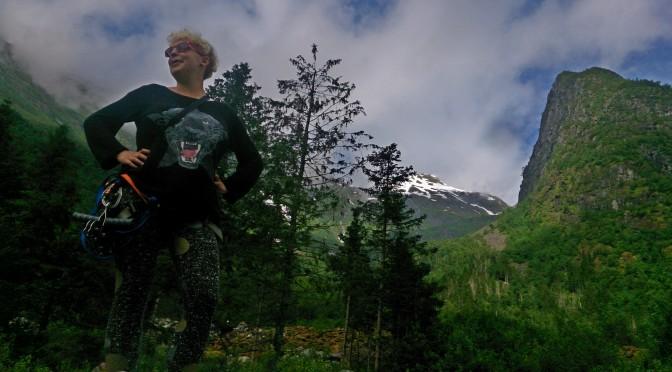 Witam Was na starcie najdłuższej tyrolki w Norwegii